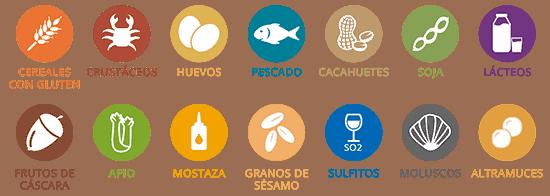 alérgenos. seguridad alimentaria