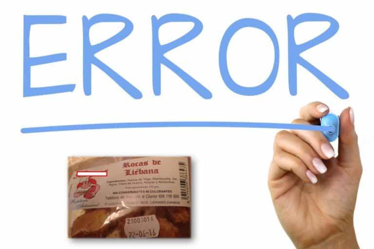 error etiquetado  alimentos